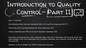 Session 10: Introduction to Quality Control - Part II