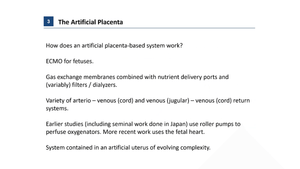 Great expectations: Development of an Artificial Placenta for Extremely Preterm Infants