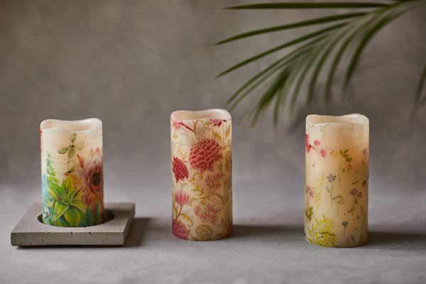 Spring LED candles, handcrafted in Ireland