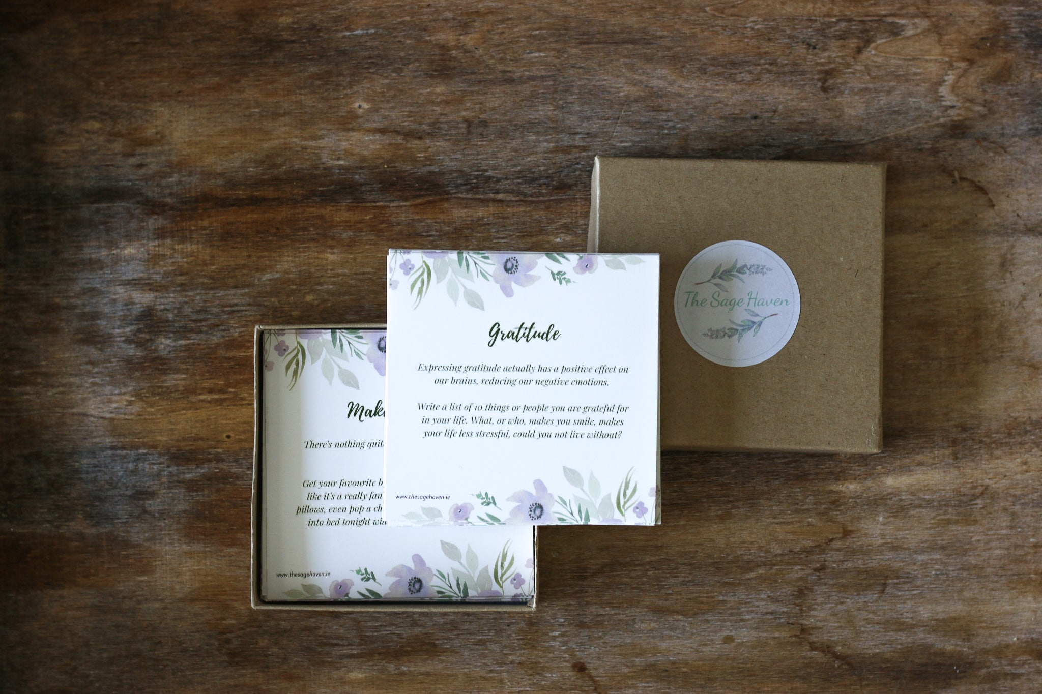 set of 30 self care wellness prompt cards