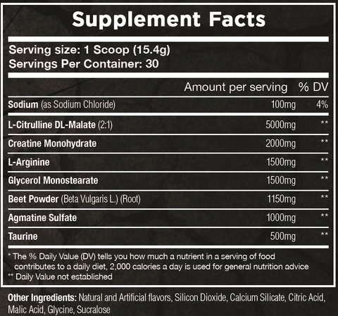 Hulk AF Supplement Facts