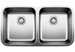 Blanco 441020 Equal Double Undermount Kitchen Sink