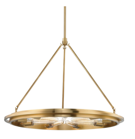 Hudson Valley 2732-AGB Chambers 9 Light Pendant