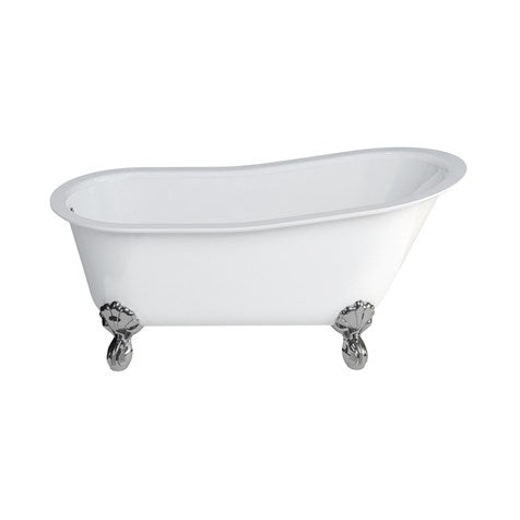 Crosswater US-N11 Romano Clawfoot Bathtub with Feet & Drain