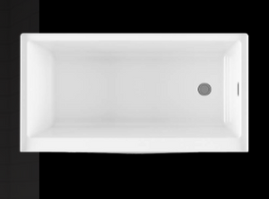 "BainUltra 60"" x 32"" x 17"" Citti Alcove Tub with Air Therapy"