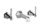Crosswater Waldorf US-WF131WN Wall Mount Two Handle Bathroom Faucet