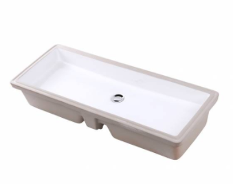 Lacava 5446UN Undermount Trough Sink, White