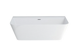 "Crosswater US-N3BCS Patinato Grande 66.5"" x 31.5"" Back-to-wall Bathtub"