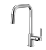 Brizo 63053LF Litze Pull-Down Faucet with Square Spout and Knurled Handle