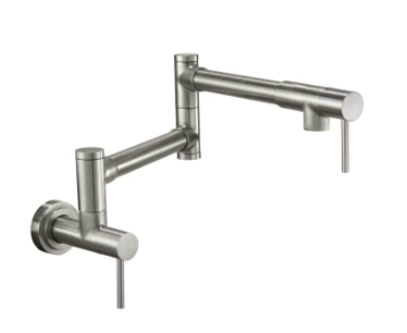 California Faucets K50-200-ST Contemporary Wall Mounted Pot Filler