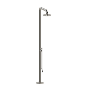 Rubinet 9HSH1SNSN Pressure Balance Outdoor Shower with Foot Rinse