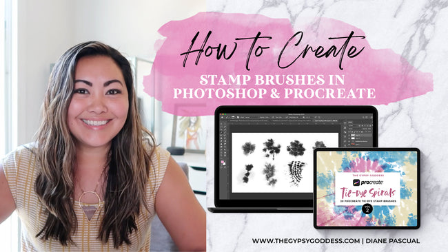 New Skillshare Class: How to Create Stamp Brushes in Photoshop and Create