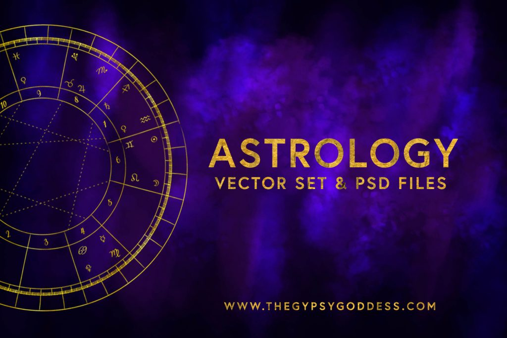 Cover Art - AstrologyVectorSet & Birth Chart _ The Gypsy Goddess - Diane Pascual