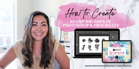 How to Create Digital Tie-Dye Stamp Brushes in Photoshop and Procreate