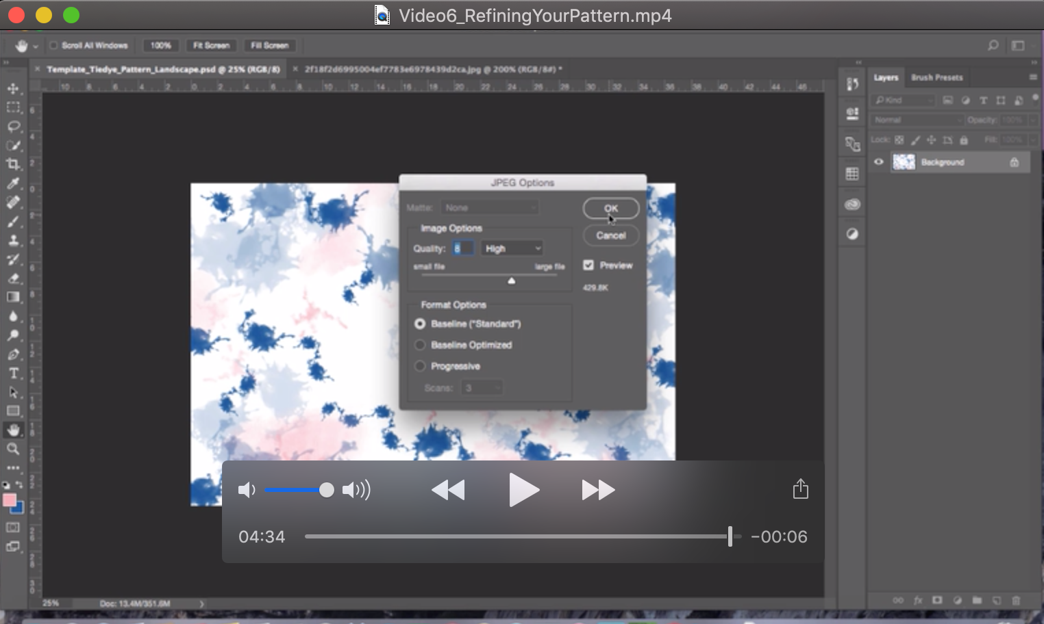 Video 6 - Refining Your Pattern in Photoshop - Diane Pascual - The Gypsy Goddess
