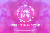 Boho Babe Vector Set