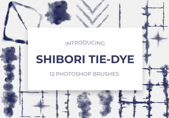 Shibori Digital Tie-Dye Brushes Vol.1