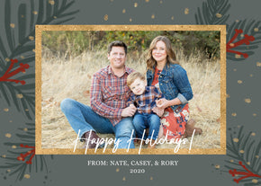 Holiday Card Template design