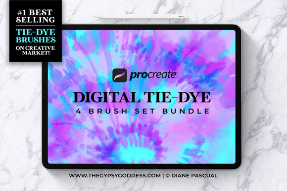 Procreate Digital Tie-Dye Brush Bundle