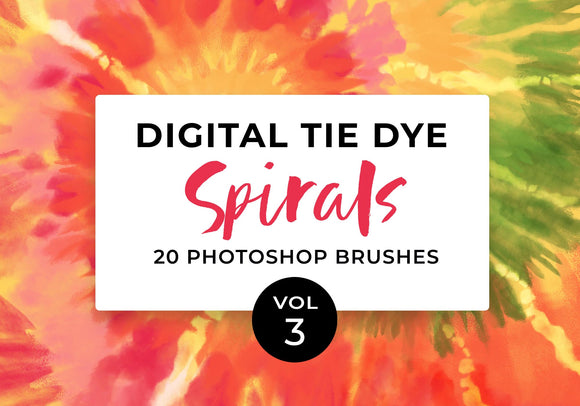 Digital Tie-Dye Spirals Vol 3 Photoshop Brushes