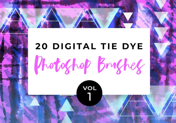 Digital Tie-Dye Photoshop Brushes Vol. 1