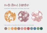 Dusty Floral Seamless Pattern Collection