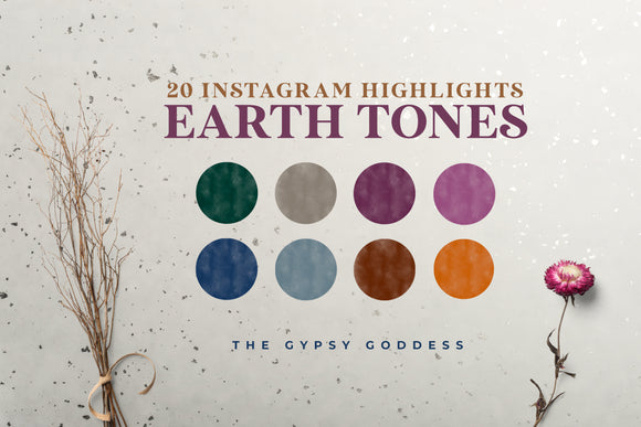 Earth Tones - 20 Instagram Highlight Icons & Backgrounds