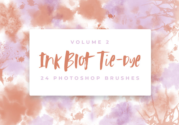 Ink Blot Tie-Dye 24 Photoshop Brushes Vol 2