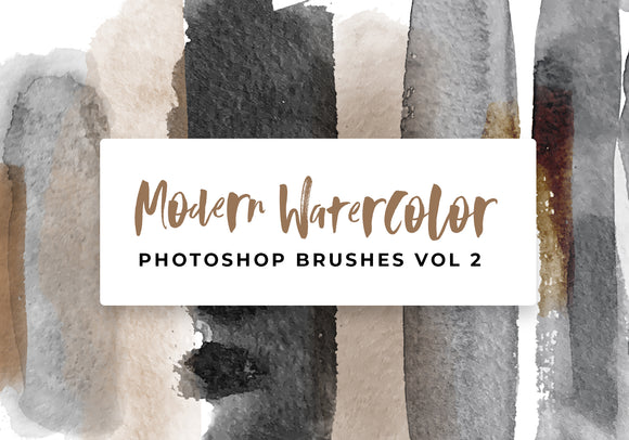 Modern Watercolor Photoshop Brushes Vol 2