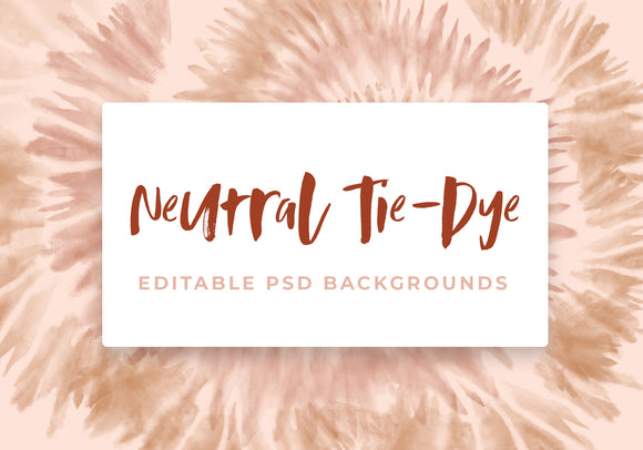 Neutral Tie-Dye Backgrounds