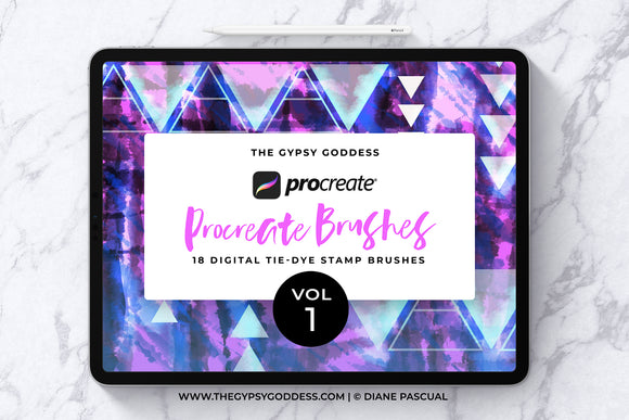 Procreate Tie-Dye Stamp Brushes Vol 1