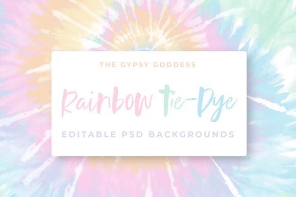 Rainbow Tie-Dye Backgrounds!