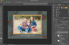 Photoshop Design for Holiday Card Template