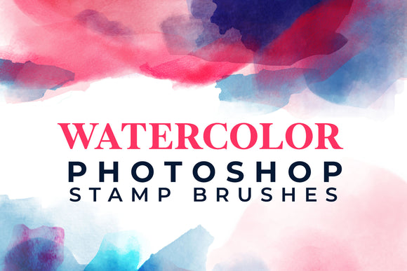 15 Watercolor Photoshop Stamp Brushes
