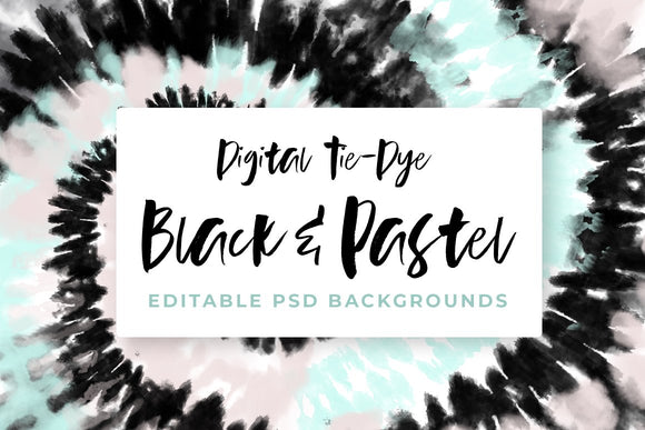 Black and Pastel Tie-Dye Backgrounds