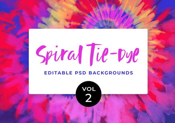 Digital Tie-Dye Backgrounds Vol.2