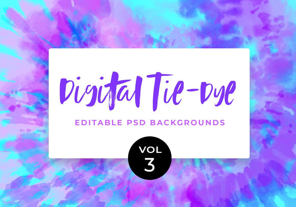 Digital Tie-Dye Backgrounds Vol. 3