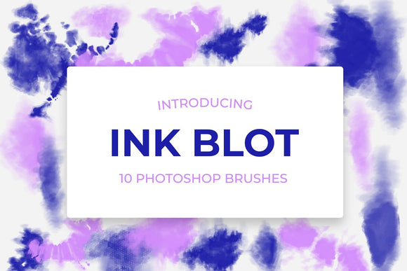 10 Ink Blot Photoshop Brushes