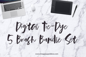 Digital Tie-Dye 5 Brush Bundle