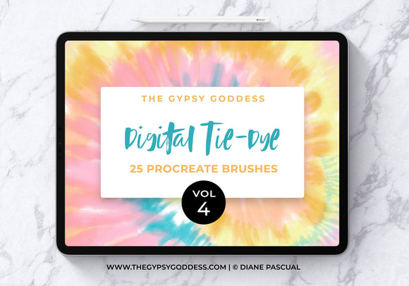 Procreate Digital Tie-Dye Brushes Vol 4
