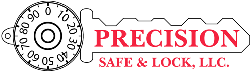 Precision Safe and Lock logo.