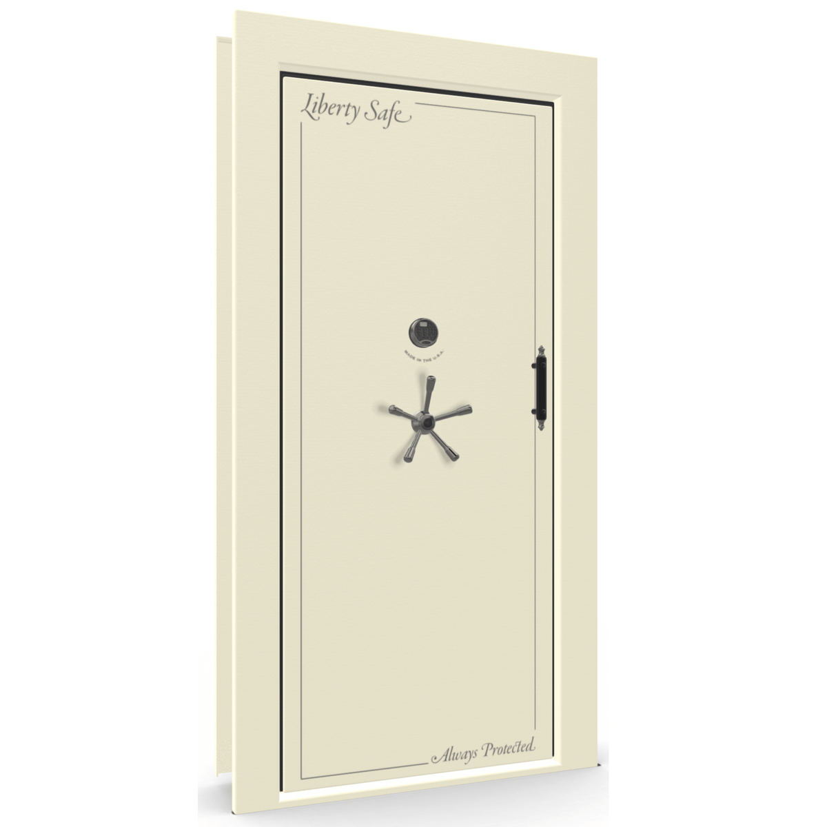 Vault Door Series | Out-Swing | Right Hinge | Champagne Gloss | Mechanical Lock