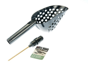 Tough Durable Black Plastic Beach Sand Scoop With Brass Probe