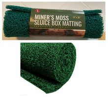 "Load image into Gallery viewer, GREEN MINER'S MOSS 12""X36""Sluice Box Matting, Gold Panning"