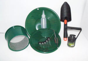 "Green Mini Classifier Screen Gold Pan Panning Kit 10"" & 8"" Green"