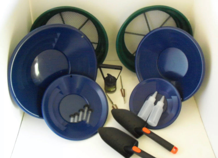 SE Blue Deluxe Gold Classifier & Gold Pan Panning Kit