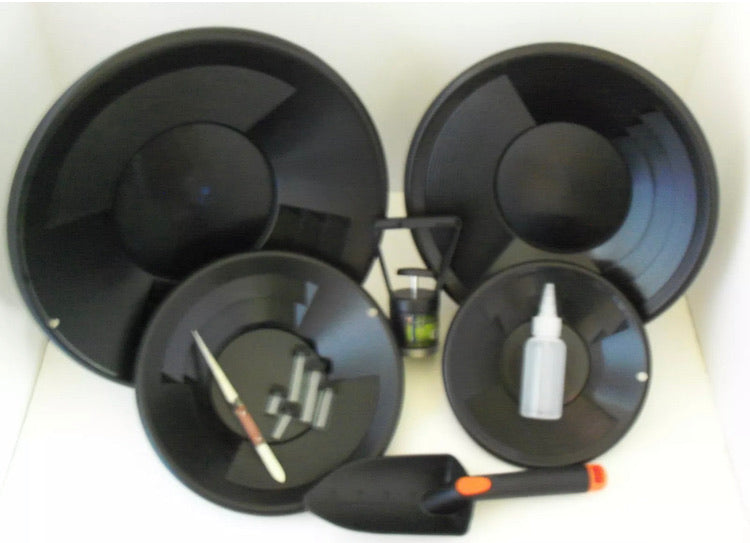 Black Gold Pan Panning Kit ! Pans Magnet, Vials, Sniffer, & More!