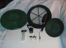 Load image into Gallery viewer, S2 Green Starter Kit Gold Classifier Screen & Gold Pan Panning Kit