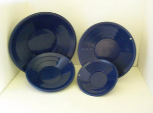 "4pc SE 8"", 10"", 12""  & 14"" PANNING Blue GOLD PANS"