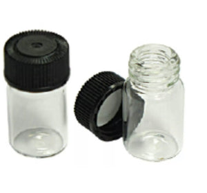 "5 MINI 1"" GLASS VIAL BOTTLE FOR YOUR GOLD PAN GOLD!"
